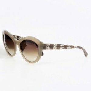 Chanel Beige Lace Sunglasses Ch 5294